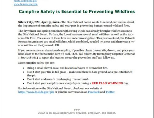 Gila National Forest Campfire Safety