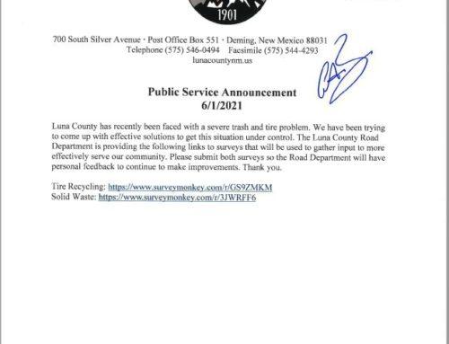 Luna County Road Department Survey Links