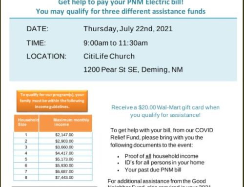 PNM On-site Assistance Event in Deming