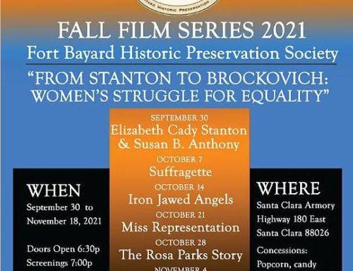 Ft. Bayard Historical Society Film Series