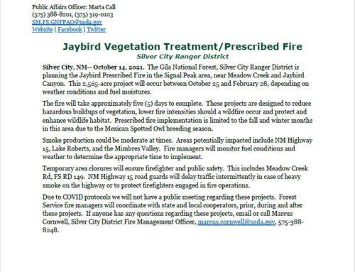 GNF Scheduled Prescribed Fire
