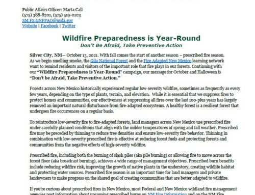 Gila National Forest and Wildfire Preparedness