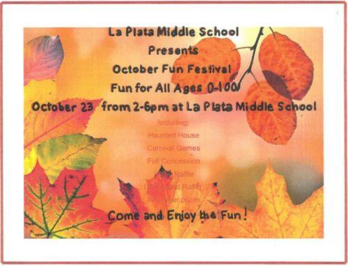 La Plata Middle School October Fun Festival